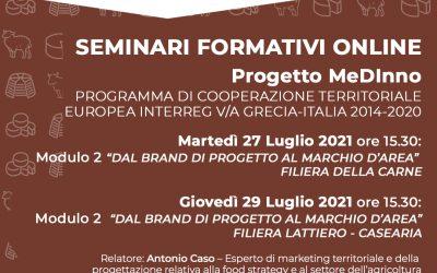 Training Seminars of the MEDINNO project 27 & 29 July 2021