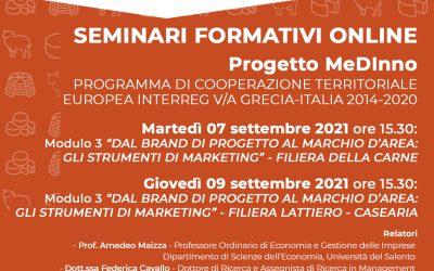 FREE Training Seminars of the MEDINNO project on Zoom   UPI Puglia